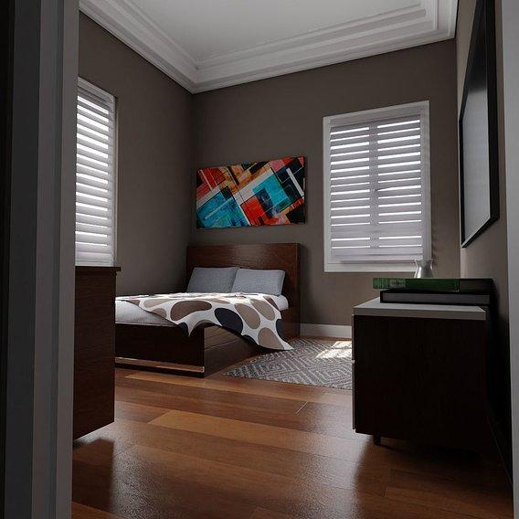 BedRoom Render 3D #2
