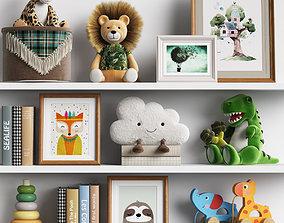Kids Room Decor 09 3D model