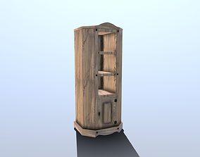 3D model Pine Corner Cabinet