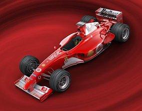 3D formula f1 ferrari hidetail 2005