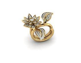 3D print model jewelry printable flower ring