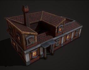 3D model Ancient House 07