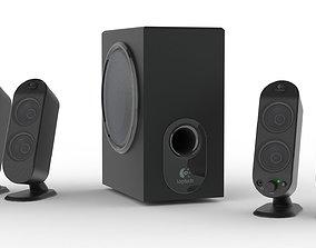 3D Logitech X-530 Speaker