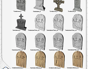 Tombstone Pack 3D asset