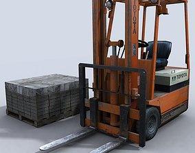 small 3D asset realtime Forklift