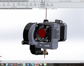 3D model Bulldog MakerBot extruder conversion