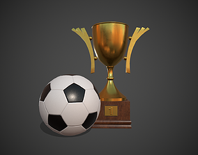 3D asset Soccer Ball and Trophy Cup