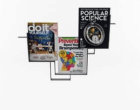 Guidelines Magazine Rack 3D asset