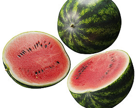 Watermelon - 3 models low-poly
