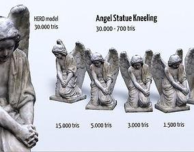 3D model Angel Statue Kneeling HD