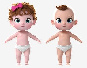 3D Cartoon Baby Twin NoRig