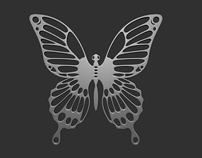 Pendant Butterfly sign 3D printable model