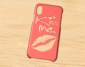 3D model CARCASA IPHONE X-XS KISS ME