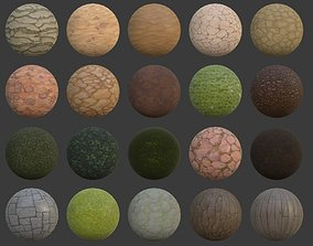 3D model Hand painted texture pack