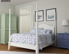 Bedroom Furniture 15 Set 3D asset