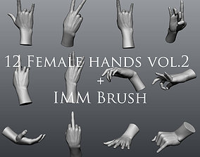 12 Female Hands vol2 3D