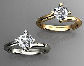 3D printable model Solitaire Diamond Engagement Rings