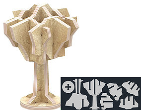 puzzle tree for CNC router cut 3D printable model