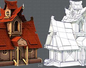 House Cartoon V02 3D asset game-ready