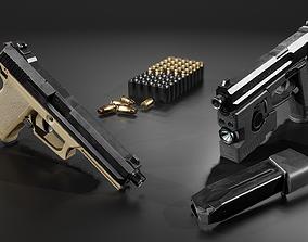 3D asset HK Mark 23 45acp SOCOM Handgun