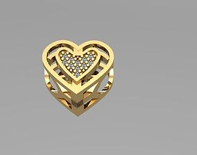 cut heart charm ball 3D print model