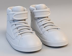 Cartoon Basketball Shoes 3D model