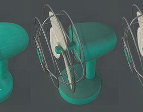 3D asset Dusty Rusty Clean Vintage fan