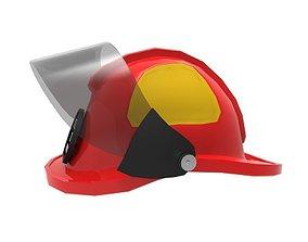 3D asset Fire Helmet