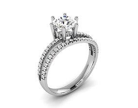 engagement Women solitaire ring 3dm render