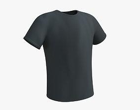 3D asset low-poly PBR T-Shirt