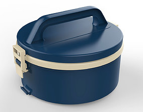 Lunch Box Container 2 Compartments 3D model