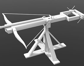 3D model Low Poly Ballista