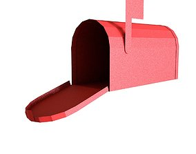 3D model lowpoly mailbox