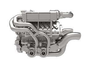 3D model Bugatti Engine