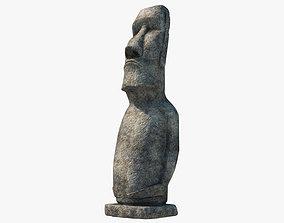 3D model human Moai statue