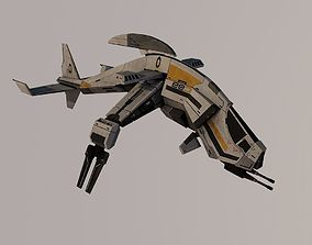 Spaceship 3D model rigged