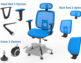 3D model Office Chair with Multi Options