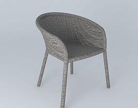 3D model Janus et Cie Strada Arm Dining Chair