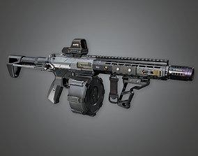 MSG - FPS Modern Shotguns - Raptr - PBR Game 3D asset