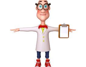 Scientist Cartoon 3D model
