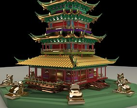 Chinese tower building 3D model