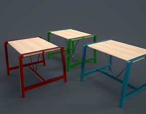 IKEA TABLE YPPERLIG PBR Game Ready 3D model