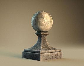 Stone ball finial 3D asset