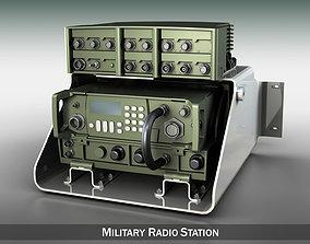 VHF Military radio station 3D