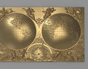 3D printable model World map - Mappemonde ou description 3