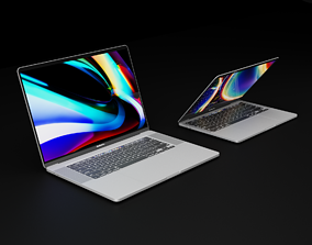3D Apple MacBook Pro 13 and 16 inch 2019 and 2020