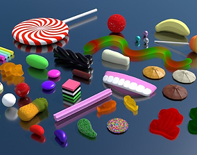 Mixed Lollies 3D model
