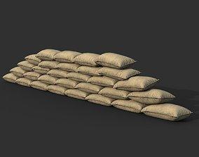 3D model Low poly Sandbag 04