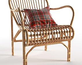 Rattan Cole Chair 3D model