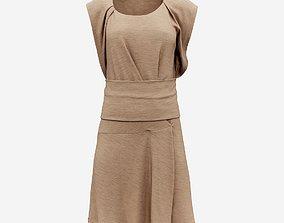 Brown Tunic Dress 3D model